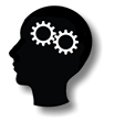 icon showing a human head with gears working together